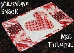 Valentine mug rug