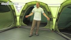 I'm beginning to think the U.K. cares more about camper comfort than the U.S.  Vango Diablo 900 - www.simplyhike.co.uk