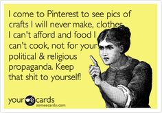 Yeah! And what's up with all the naked people on Pinterest lately? Gross..