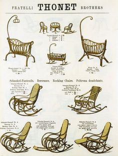 Thonet Brothers auction catalog dated 1885.