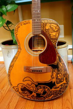 Sharpie Guitar, Part Deux by Maggie Stiefvater/Telltale Crumbs, via Flickr
