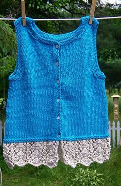 Ravelry: Project Gallery for Lacy Tank Top-Big Sister pattern by Jenny Snedeker
