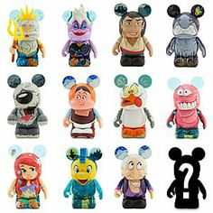 Disney Vinylmation The Little Mermaid Series. I can't wait to buy more when we go to Disney World again this fall ! Disney And More, Disney Love, Disney Magic, Walt Disney, The Little Mermaid Series, Disney Pins, Disney Stuff, Disney Figurines, Disney Merchandise