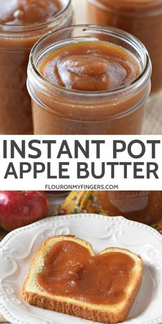 Instant Pot apple butter is filled with delicious cinnamon spice flavor. - Instant Pot apple butter is filled with delicious cinnamon spice flavor. Such a quick and easy reci - Best Instant Pot Recipe, Instant Recipes, Instant Pot Dinner Recipes, Instant Pot Pressure Cooker, Pressure Cooker Recipes, Apple Recipes, Fall Recipes, Apple Desserts, Pots
