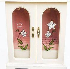 Cottage Chic Jewelry Box trinkets storage display cabinet