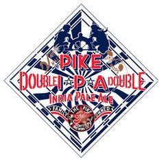 Cerveja Pike Double IPA, estilo Imperial / Double IPA, produzida por Pike Brewing, Estados Unidos. 8% ABV de álcool.