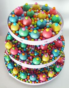 angel food cake truffles -- Everlasting Gobstoppers at a Wonka party?