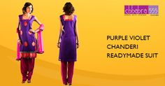 Addition of over 25 new designs every day, select PURPLE VIOLET CHANDERI READYMADE SUIT DUPATTA in @ $79.95 AUD from Chhabra555 that will give you stunning look on any occassion in Australia.