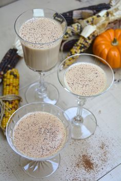 Deadly Pumpkin Martini: Fireball Whiskey, Pumpkin Liqueur, Hazelnut Liqueur, Nutmeg