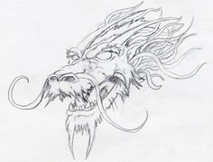dragon head drawings - Google Search