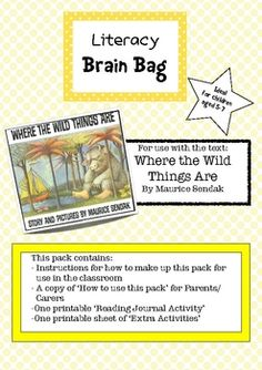 Another Literacy Brain Bag pack!