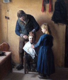 The Athenaeum - At the Haircutter's (Anna Ancher - )