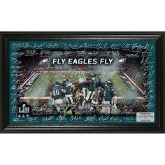 befe0cace7518 Super Bowl LII Champions Highland Mint Signature Grid Frame - Eagles -  8653685