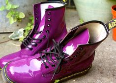 purple doc martens - coolest thing I've seen in a long time