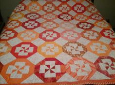 Disappearing Pinwheel pattern by Missouri Star Quilt. Photo from the Quilting Board.