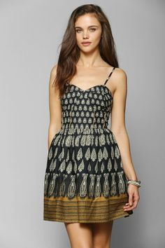 0344abb5dbf Band Of Gypsies Paisley Fit  amp  Flare Dress  urbanoutfitters Urban Dresses