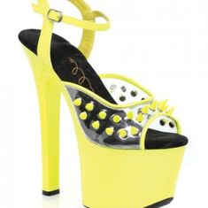 5398fc7a584 Ellie Shoes | Ellie Shoes Solar 7 Neon Platform Black Light | Color: Yellow  | Size: 9