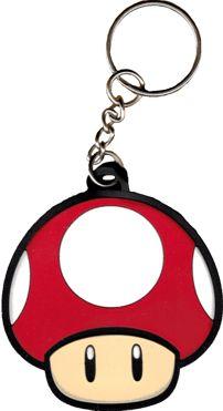 NINTENDO Super Mario Brothers Red Mushroom (Super Mario Bros.) Key Ring  (Keychain af5a4eb413f00