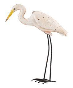 Look at this 27'' Egret Garden Décor on #zulily today!