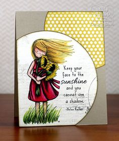 Unity Stamp Co. Design Team Member - @Danielle Daws - using the Unity Stamp Co - Phyllis Harris Release - Face the Sunshine  http://www.unitystampco.com