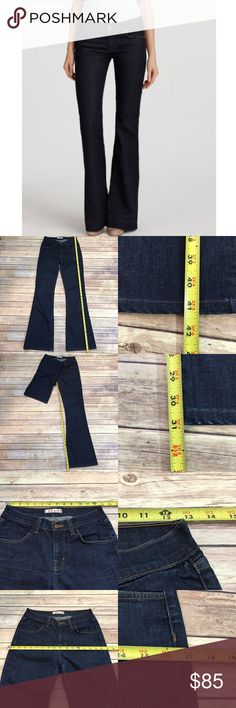 ✳️Size 26 Anthro J BRAND Dark Wide Leg Flare Jeans Measurements are in photos. Normal wash wear, shows some wear on bottom hems. no other flaws. B2  I do not comment to my buyers after purchases, do to their privacy. If you would like any reassurance after your purchase that I did receive your order, please feel free to comment on the listing and I will promptly respond. I ship everyday and I always package safely. Thanks! Anthropologie Jeans Flare & Wide Leg