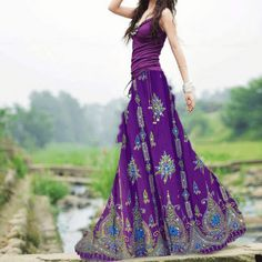 Unique Look Casual Style - Boho chic - Jupe Gypsy Style, Bohemian Style, Hippie Style, Women's Fashion Dresses, Boho Fashion, Maxi Dresses, Fashion Top, Maxi Skirts, Fashion Clothes