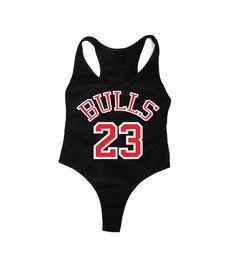 BULLS 23 Black Bodysuit