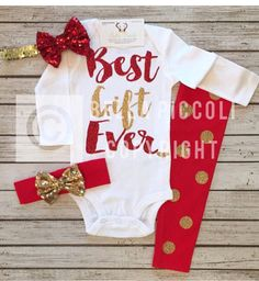 Excited to share thi Excited to share this item from my shop: Best Gift Ever Baby Girl ClothesGirls Christmas OutfitRed Gold Christmas Outfit Baby Girl Christmas Outfit Girls Christmas Shirts Girls Christmas Shirts, Baby Girl Christmas, Gold Christmas, Christmas Clothes, Handmade Christmas, Merry Christmas, Xmas, Valentines Day Baby, Daddys Girl