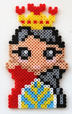 Queen of Hearts  Perler Bead Chibi Alice in Wonderland Fridge Magnet or Wall Art by theplayfulperler