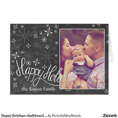 happy holidays chalkboard photocard holiday cardschristmas cardsonline greeting - Create Greeting Cards Online