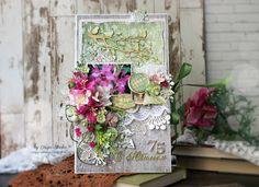 Scrap-Imaginarium: Юбилейная открытка и цветочная шоколадница