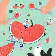 love watermelon! | Jimin Yoon