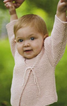Easy Peasy Baby Jacket from Churchmouse Yarns: There is something very sweet about an all-garter-stitch baby sweater, it's a perfect first sweater—for baby and for knitter.