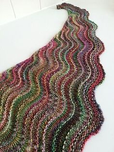 Sea Line Shawl Ravelry: Sea Line Shawl pattern by Nuria Pastor History of Knitting Yarn rotating, weaving and stitching careers such as. Lace Knitting Patterns, Shawl Patterns, Knitting Stitches, Hand Knitting, Knitting Yarn, Knitting Tutorials, Knitting Machine, Stitch Patterns, Crochet Shawls And Wraps