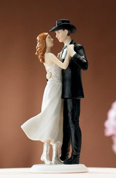 Western Wedding Cake Topper from Wedding Favors Unlimited