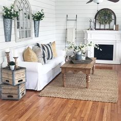 Farmhouse living room.