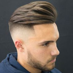 High Skin Fade with Quiff and Beard High Skin Fade mit Quiff und Bart Popular Mens Hairstyles, Cool Mens Haircuts, Cool Hairstyles For Men, Popular Haircuts, Men's Haircuts, Stylish Hairstyles, Professional Hairstyles, Best Undercut Hairstyles, Pompadour Hairstyle