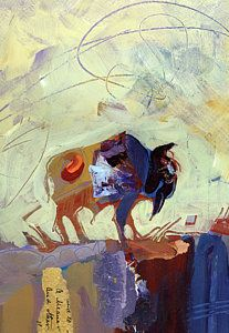 Buffalo Painting - Buffalo IIi by Shelli Walters