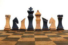 Bourbon Barrel Chess Set by HungarianWorkshop on Etsy