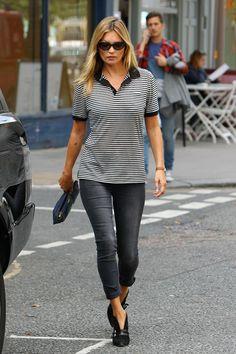 Kate Moss Look Sport y sencillo