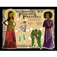 Saints Felicity and Perpetua DIGITAL download by magneticcatholic