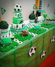 Cumple Soccer Birthday Parties, Kylie Birthday, Birthday Themes For Boys, Football Birthday, Sports Birthday, Baby Boy Birthday, Soccer Party, Birthday Party Themes, Soccer Baby Showers