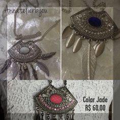 Necklace Jade #bijuteriasartesanais  #swaroviski