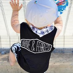 Be BRAVE, be FEARLESS 🙌  Amazing snap by @little.leo.man in our brave and fearless monochrome tank.  W w w . t h r e a d s f o r b o y s . c o m . a u . . . . . . . . . . . . #Mumasboy #mumswithhustle #toddlerswithstyle #flylittleguy #toddlerootd #spectacularkidz #babieswithstyle #itkidboy #cutekidmodels #cutekidsclub #fashion_fks #mini_stylishkids #stylish_cubs #stylishigkids #cutekids24 #supportsmall #urbankids #urbanbaby #braveandfearlessbrand #boymum #boymom #mumofboys #momsofboys…