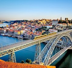 Beautiful aerial View of the Dom Luiz bridge in Porto, Portugal | What to Do in Porto in 3 Days