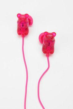 Gummy Bears Earbud Headphones - Red