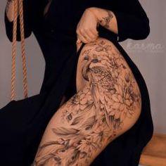 Cute Thigh Tattoos, Floral Thigh Tattoos, Forarm Tattoos, Badass Tattoos, Body Art Tattoos, Cool Tattoos, Tatoos, Dope Tattoos For Women, Sleeve Tattoos For Women