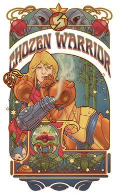 Chozen Nouveau by hezaa.deviantart.com  Samus Aran a sido mi heroina de videojuegos favorita, siempre me gustaron mucho los juegos de Metroid y, admitamoslo, ella es tan sensual~ *¬*