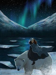 Northern lights by on DeviantArt Iorek Byrnison, East Of The Sun, The Golden Compass, His Dark Materials, Bear Art, Human Art, Avatar The Last Airbender, Anime Comics, Illustration Art
