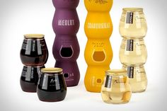 Stackable Wine bottle...4 ready to drink glasses @Celina Tarantino